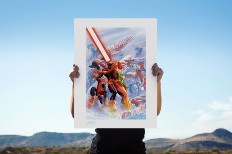 Uncanny X-Men Fine Art Lithograph by Alex Ross Art