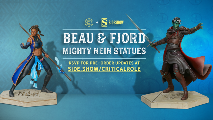 Sideshow and Critical Role Partnership- Mighty Nein Statues