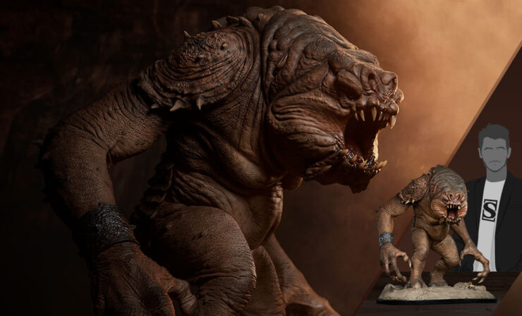 Final Product Photos of the Rancor Deluxe Statue
