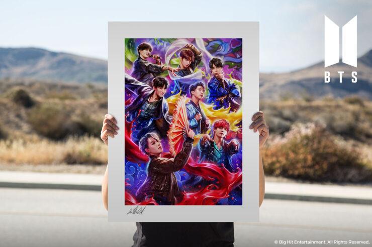 The BTS: IDOL Fine Art Print by Artist Ian MacDonald