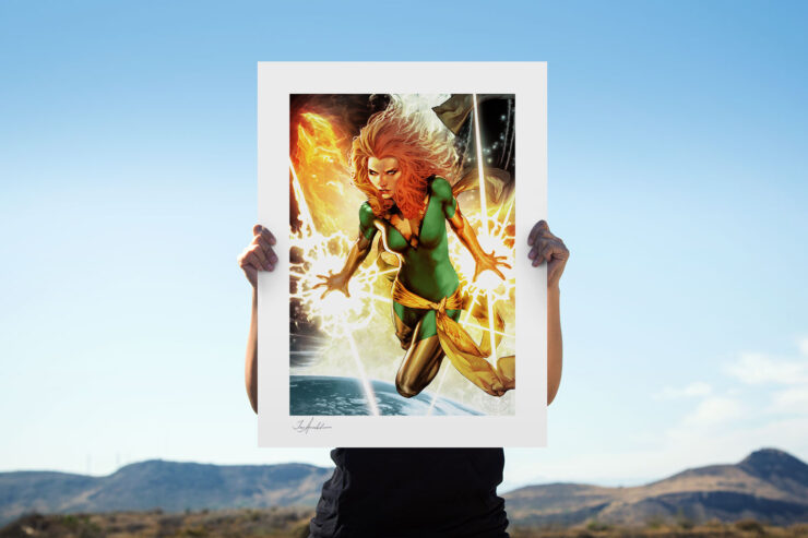 The Classic Phoenix Variant Fine Art Print by Comic Book Artist Jay Anacleto