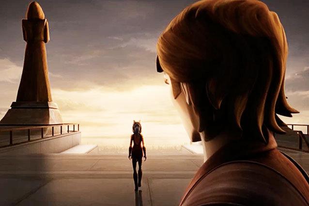 Ahsoka leaving Skywalker and the Jedi behind
