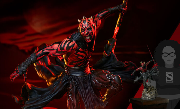 Final Product Photos of the Darth Maul Mythos Statue