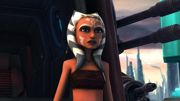 Young Ahsoka in the Clone Wars Animated Series