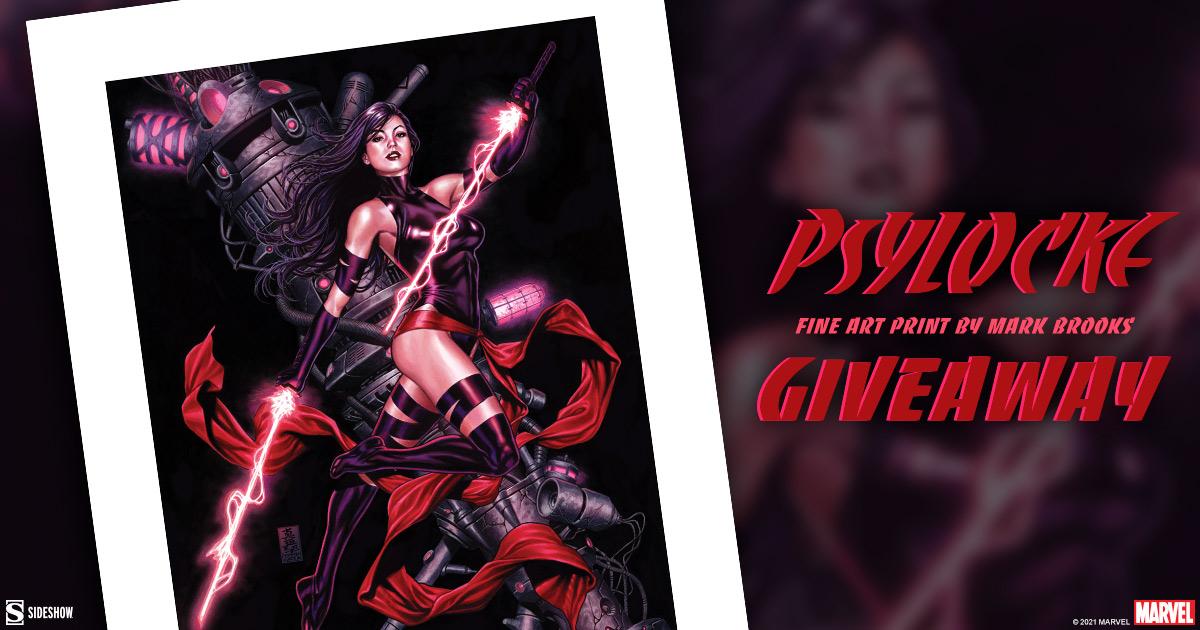Psylocke Fine Art Print Giveaway