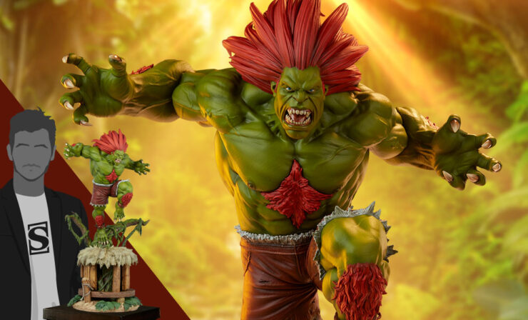 The Blanka Ultra 1:4 Scale Statue and Exclusive Player 2 Version by PCS