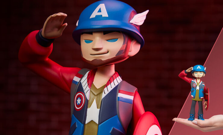 Final Product Photos of the Captain America Designer Collectible Toy by Artist kaNO