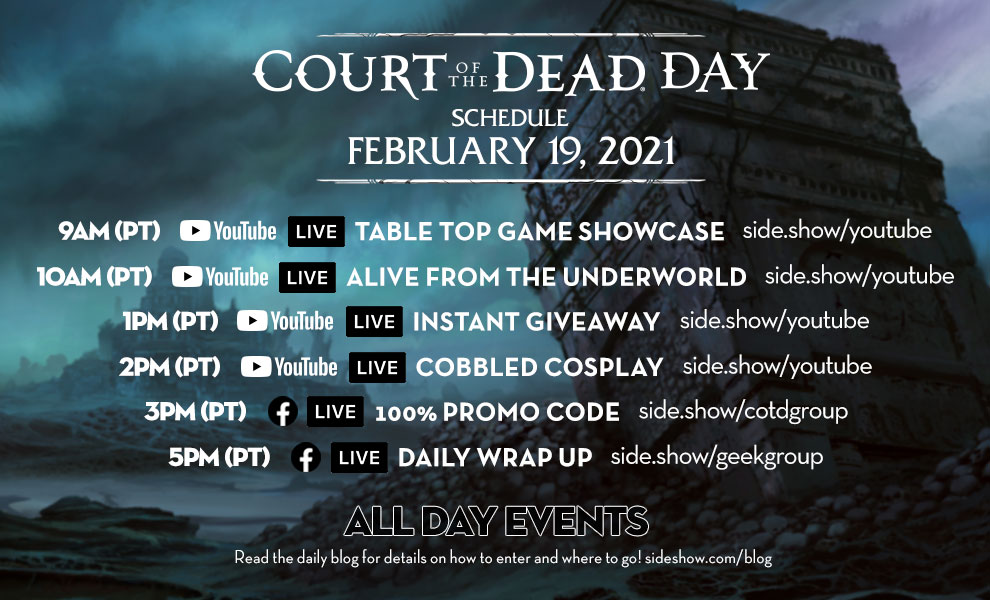 Court of the Dead Day Schedule