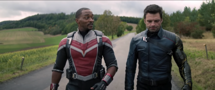 The Falcon and the Winter Soldier Walking
