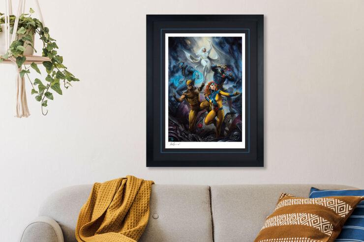 House of X #1 Fine Art Print by Adi Granov Black Frame