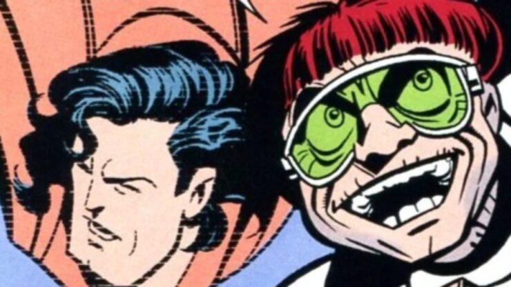 DC Comics Villain Killgrave next to Superman