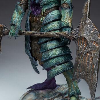 Oathbreaker Strÿfe Fallen Mortis Knight Premium Format Figure close up on axe in hands