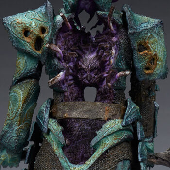 Oathbreaker Strÿfe Fallen Mortis Knight Premium Format Figure View of Skull in hallowed rib cage