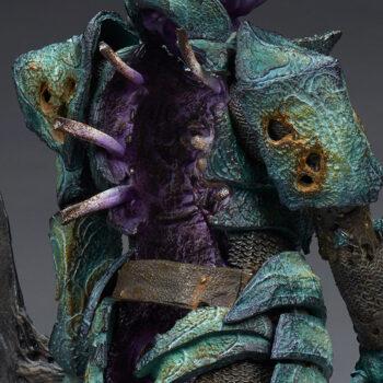 Oathbreaker Strÿfe Fallen Mortis Knight Premium Format Figure close up on ribs ripping apart