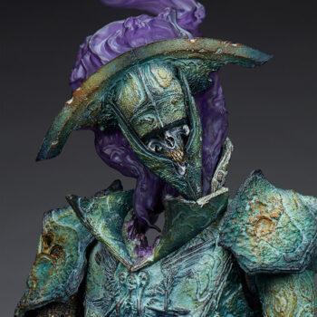 Oathbreaker Strÿfe Fallen Mortis Knight Premium Format Figure close up on terrifying grin
