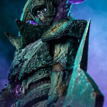 Oathbreaker Strÿfe Fallen Mortis Knight Premium Format Figure view form below with ethereal background