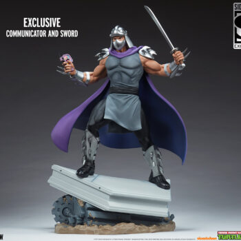 Shredder Fourth Scale StatueTeenage Mutant Ninja Turtle collectibles full view with exclusive descriptors