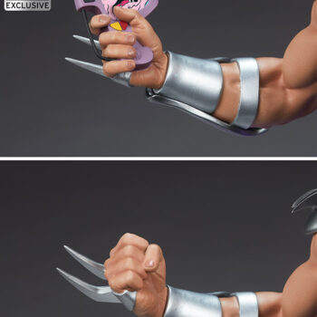 Shredder Fourth Scale StatueTeenage Mutant Ninja Turtle collectibles Close up on swapouts