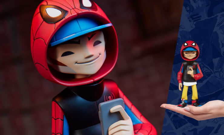 Final Product Photos of the Spider-Man Designer Collectible Toy by artist kaNO