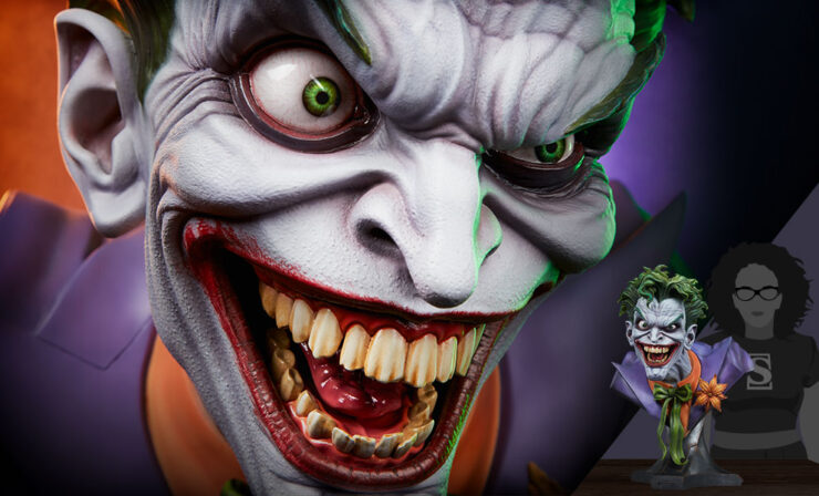 Final Product Photos of The Joker Life-Size Bust