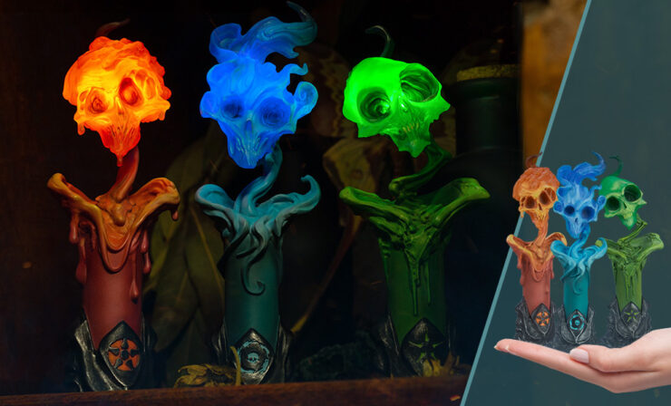 Final Product Photos of The Lighter Side of Darkness: Faction Candle Statue Set