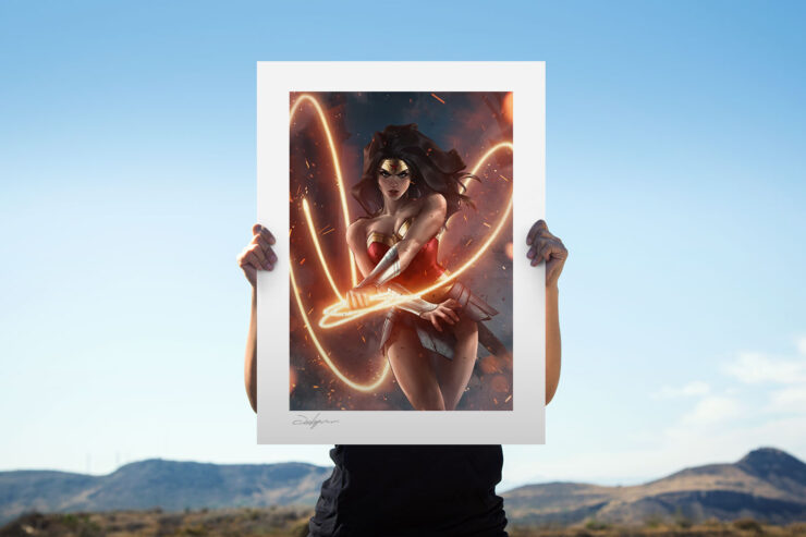 The Wonder Woman Fine Art Print by Artist Jeehyung Lee