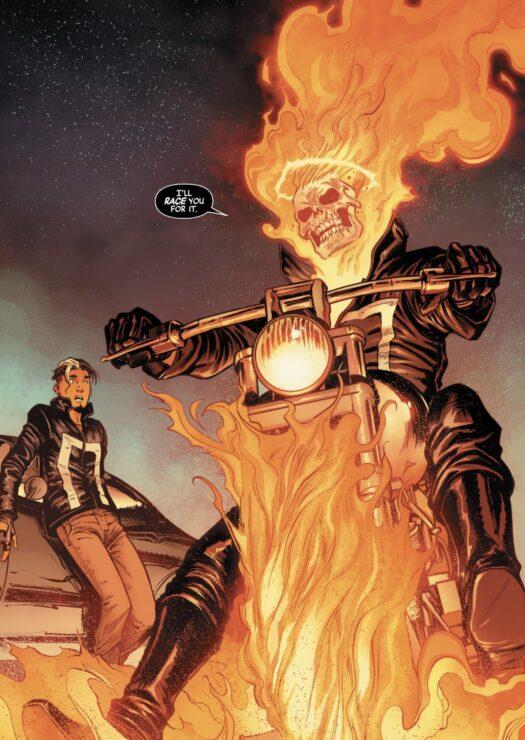 Ghost Rider Panel 1: Avengers #22 (2018)