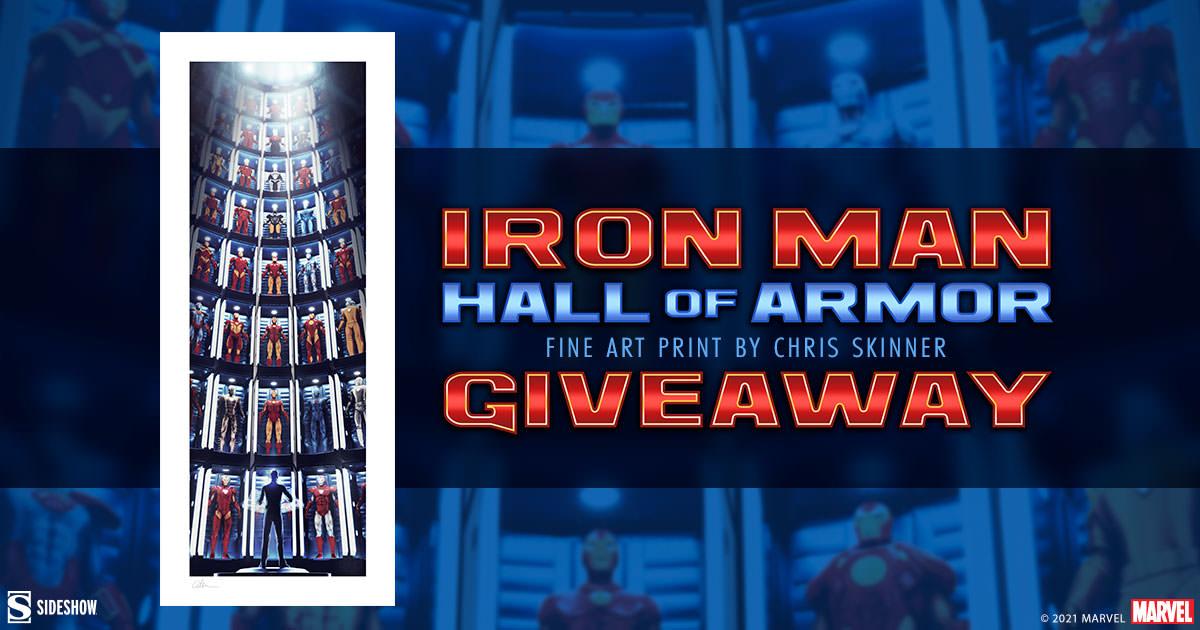 Iron Man Hall of Armor Fine Art Print Giveaway