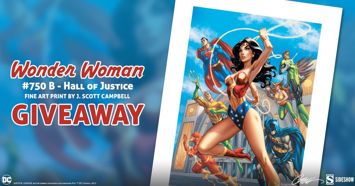 Wonder Woman #750 B – Hall of Justice Fine Art Print Giveaway