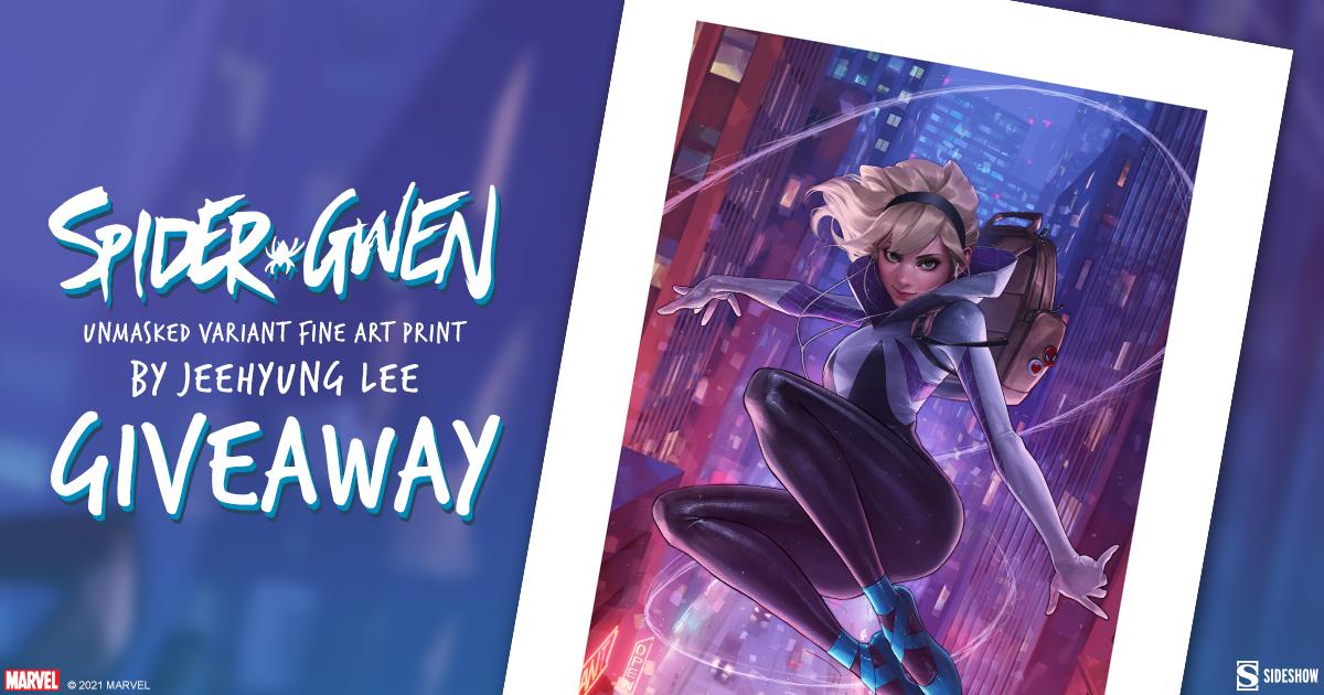 Spider-Gwen Unmasked Variant Fine Art Print Giveaway