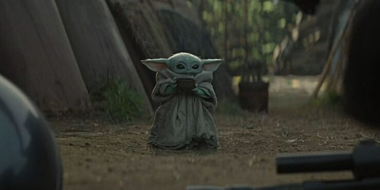 Baby Yoda Sips Soup In The Mandalorian