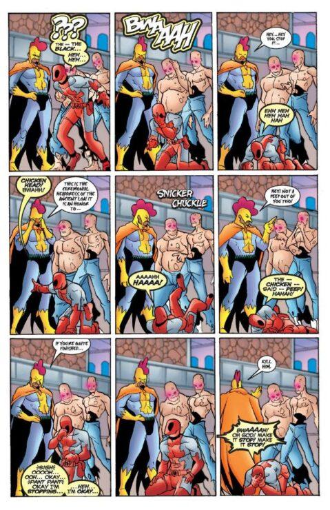 Deadpool Laughs at Black Talon