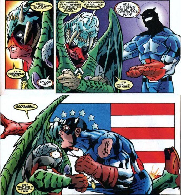 Deadpool Kicks Captain America