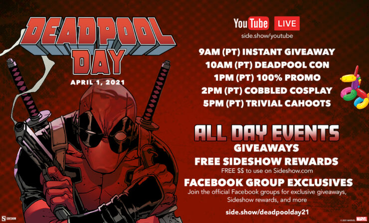 9 AM: Instant Giveaway 10 AM: Booth Tour 12 PM: 100% Promo Hunt 2 PM: Cobbled Cosplay 5 PM: Trivia Cahoots