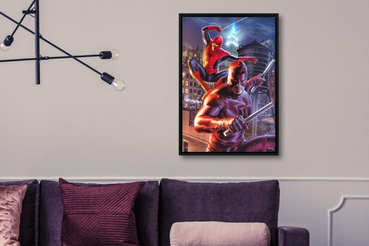 Daredevil and Spider-Man Fine Art Print Felipe Massafera Canvas