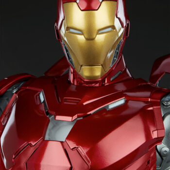 Close Up on face of Iron Man Third Scale Statue