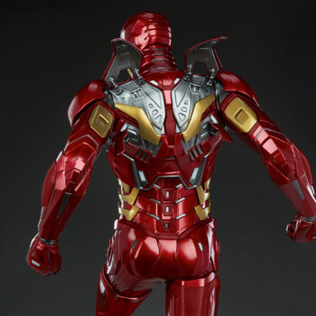 close up on back of Iron Man Third Scale Statue
