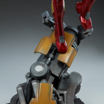 close up on feet and base of Iron Man Third Scale Statue