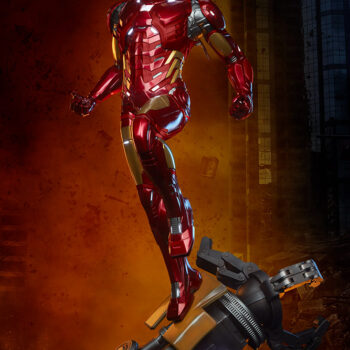 Iron Man Third Scale Statue Full View Quarter Right View