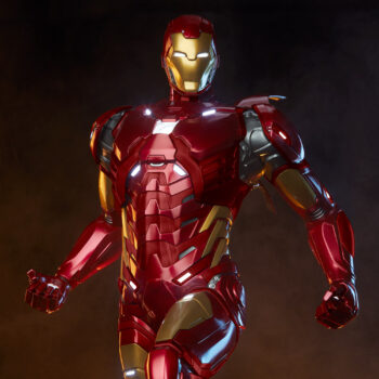 upper body feature close up of Iron Man Third Scale Statue