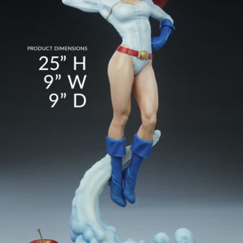 apple size comparison with the Power Girl Premium Format Figure