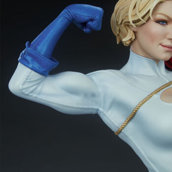 Close up on right arm muscles of Power Girl Premium Format Figure