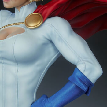 Close up on left arm muscles of Power Girl Premium Format Figure
