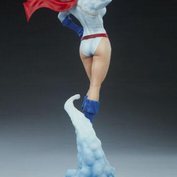 full back quarter right view of Power Girl Premium Format Figure