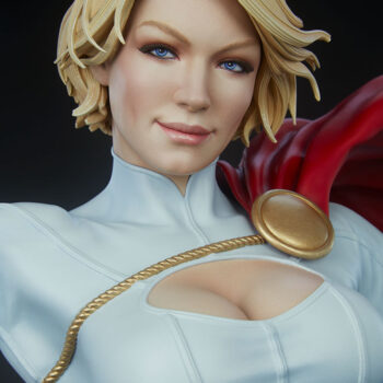 close up on smile of Power Girl Premium Format Figure