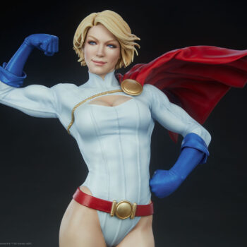 Close up front view of Power Girl Premium Format Figure