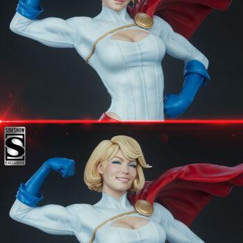 Power Girl Premium Format Figure Exclusive Portrait Comparison with Collector's Edition