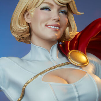 Power Girl Premium Format Figure exclusive close up on smile