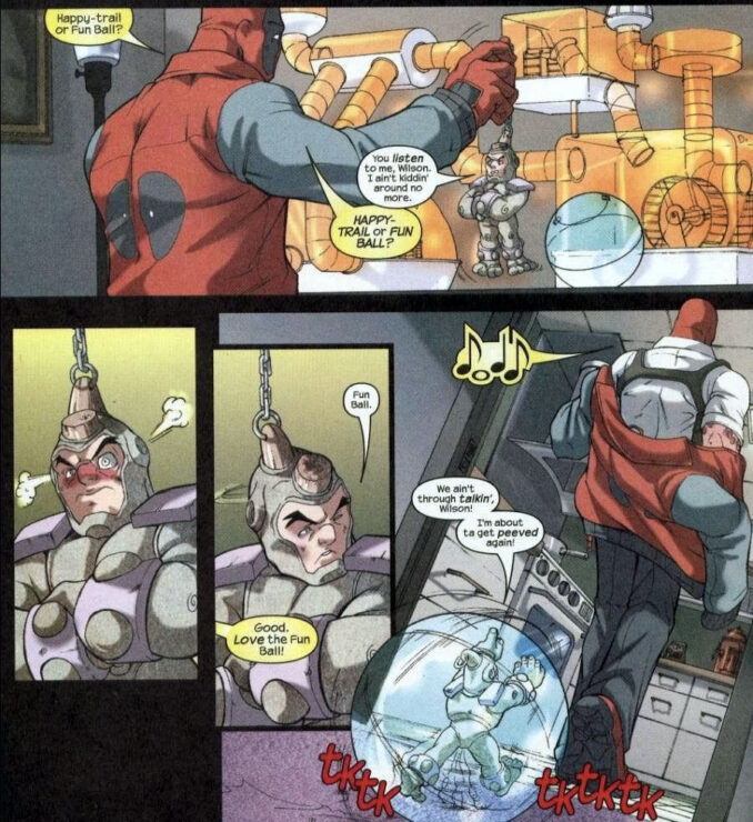 Deadpool with Shrunken Rhino