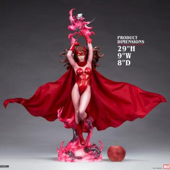 Scarlet Witch Premium Format Figure with apple size comparison